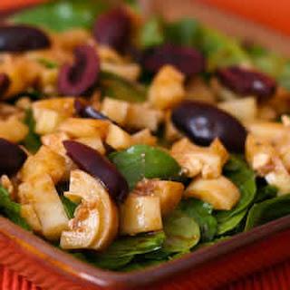 Arugula Salad Recipe with Hearts of Palm, Kalamata Olives, and Gorgonzola