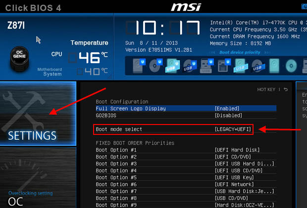 MSI Secure Boot Disable