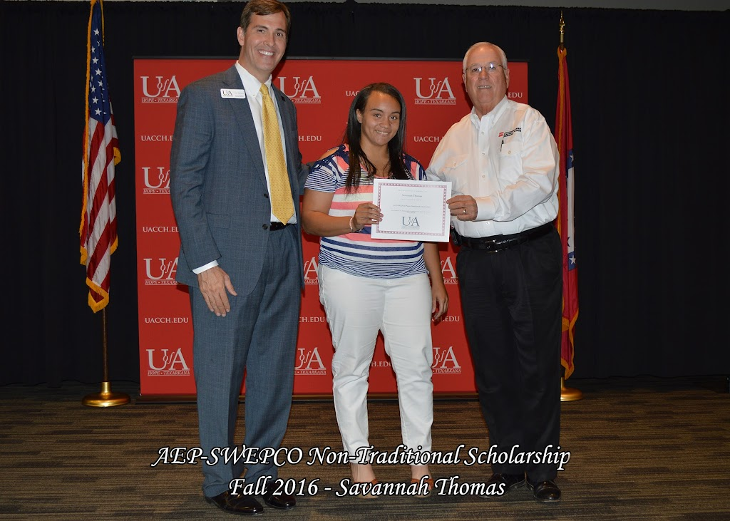 Fall 2016 Scholarship Ceremony - AEP-SWEPCO%2BNon-Traditional%2B-%2BSavannah%2BThomas.jpg