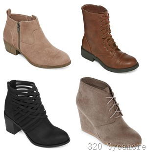 jcpenney womens booties on sale