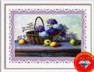Tranh gắn đá giỏ hoa quả
