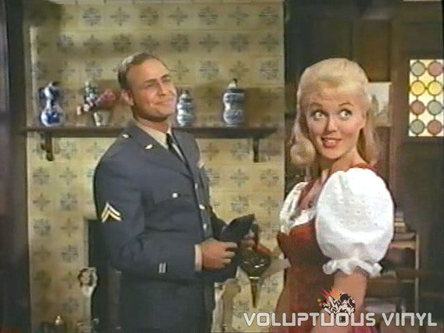 Marlon Brando in an officers uniform with a hot blonde German.