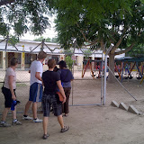 Building day in Shakawe