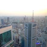 tokyo view prior to dusk in Shinagawa, Tokyo, Japan