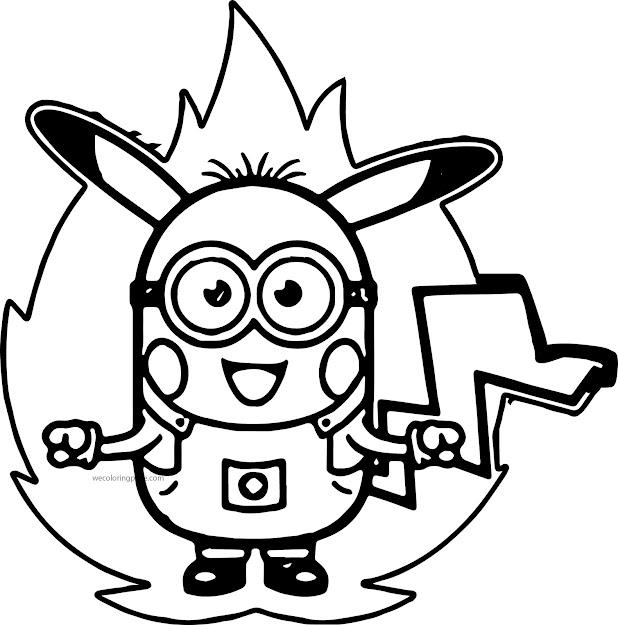 Minion Pokemon Coloring Pages