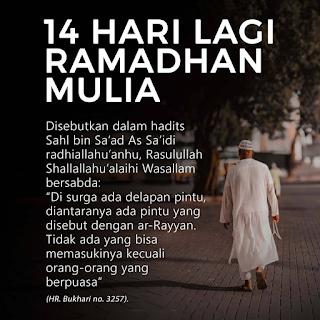 14 hari menjelang Ramadhan