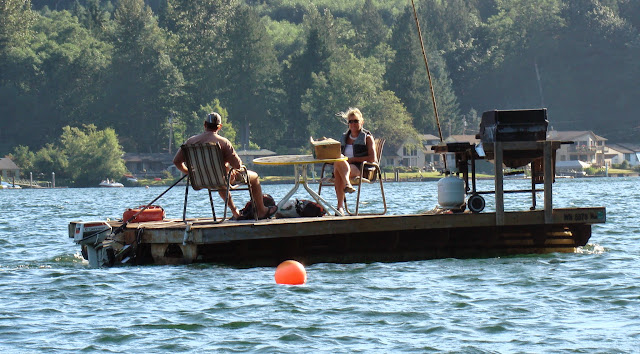 Dock boat on Lake Samish / Credit: Kent Powell
