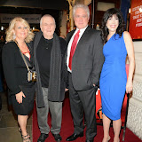 WWW.ENTSIMAGES.COM -     John Kander, David Thompson and  Catherine Schreiber     arriving  at      The Scottsboro Boys - press night at Garrick Theatre, Charing Cross Road, London October 20th 2014Kander and Ebb's provocative musical about the true story of nine young black men falsely accused of raping two white women.                                                   Photo Mobis Photos/OIC 0203 174 1069
