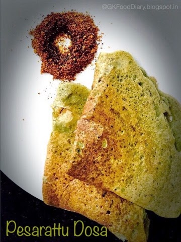 Andhra Special Pesarattu Dosa Recipe