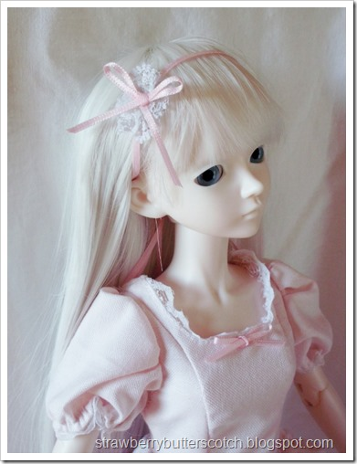Close Up of Pink Doll Hair Accessory