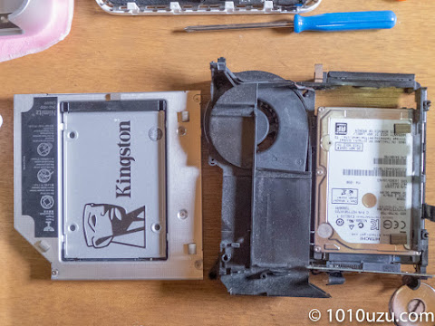 Mac mini Early 2009をバラして内蔵していたHDDを取り出す