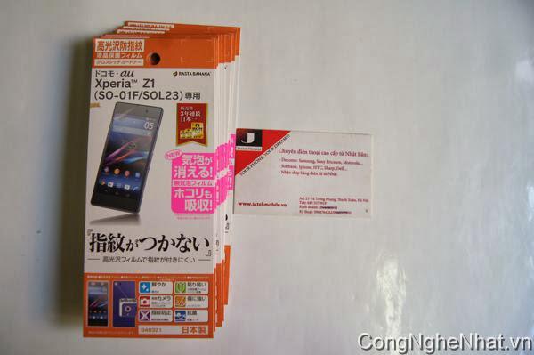 Dán màn Sony Xperia Z1 (SO-01F) độ bóng cao