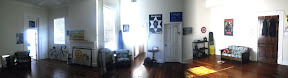 behold: I have stiched together a three picture panorama of my big room