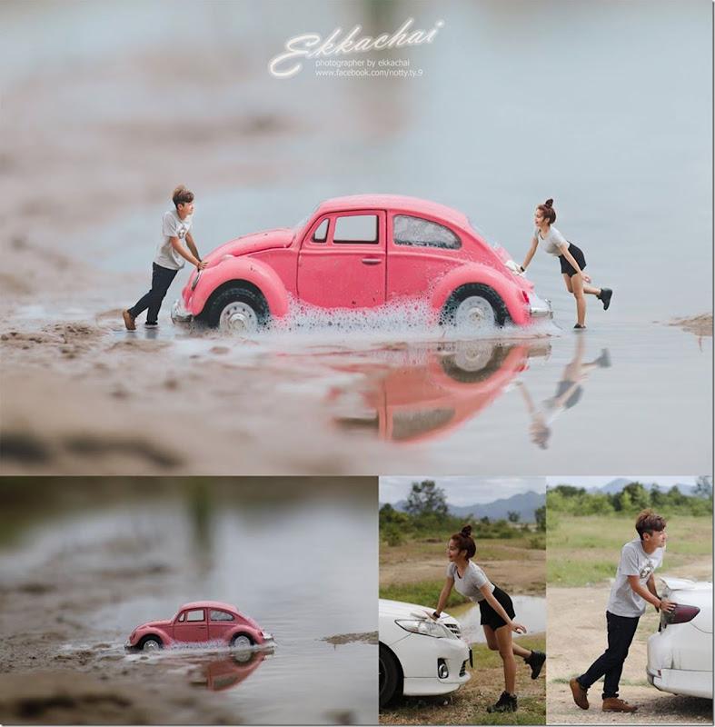Gambar Pengantin Bersaiz Serangga Memberi Impak Yang Unik Dalam Dunia Fotografi, Miniature, Wedding-Photography, Ekkachai-Saelow, Thailand