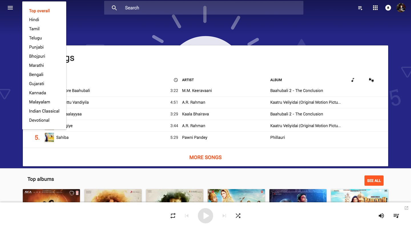 Does not show English songs - Google Play Help