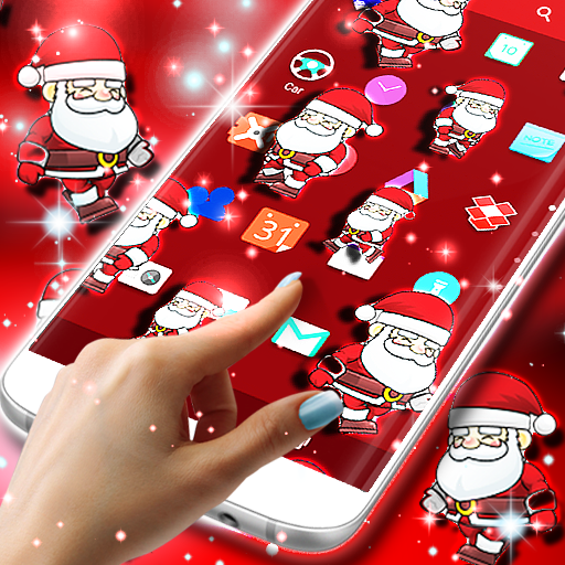 Christmas santa on screen (app)