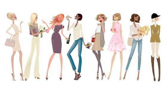 Adrian Valencia Fashion Illustrations Women Portayed
