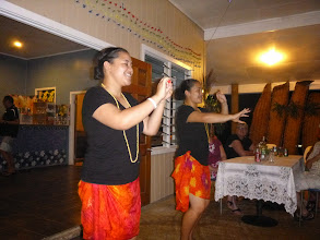 Photo: As we cross the Pacific, we see the differences in the dancing styles from country to country.  Here, it's slower with more intricate hand and finger movements.