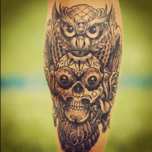 58 awesome owl tattoo ideas for you for Owl tattoo skull