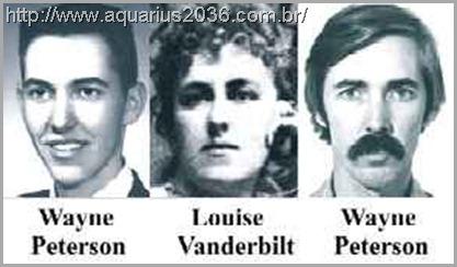 A reencarnação de Louise Vanderbilt como Wayne Peterson