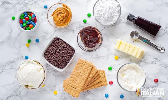no-bake cheesecake ingredients