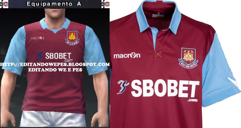 61be90ba25 Editando WE e PES: Uniforme West Ham PES 2010 e PES 2011