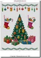 punto de cruz árboles de Navidad
