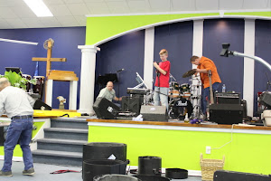 Nicolas and David helping Charles and Dad tear down. What a blessing!