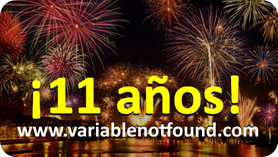 11 años de Variable Not Found