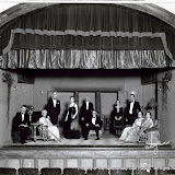 (Unknown), Florence B. Sanford, Richard P. Davis, Arline Huntington, J.G.E. Wright, (Unknown), Loys Wright Marsden, Devereaux Hanson, (Unknown) and (Unknown) in LET US BE GAY - May 1931.  Property of The Schenectady Civic Players Theater Archive.