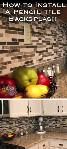 How to install pencil tile backsplash