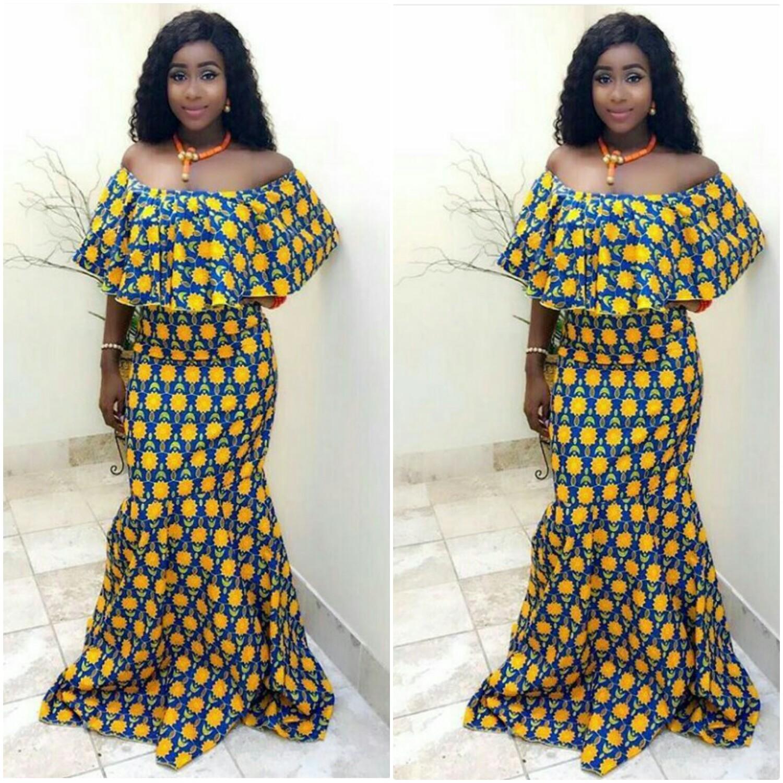 Wonderful Kitenge Styles For Long Dresses Lovers