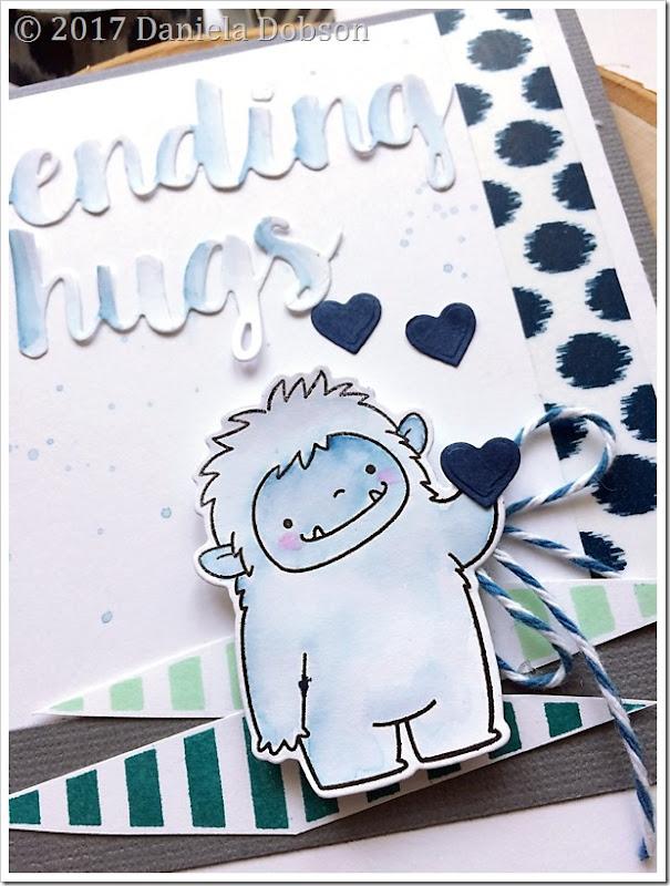 Sending hugs close by Daniela Dobson