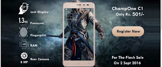 CHAMPONE C1 INDIA – BUY SMARTPHONE AT JUST RS.501 ONLY - Tricksntricky.com