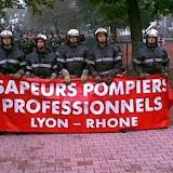 Une importante manifestation dans Lyon.