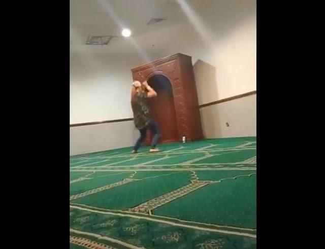 بالفيديو/ ممرضة تثير غضب الملايين برقصها و اباحيتها داخل مسجد
