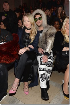 NEW YORK, NY - FEBRUARY 13: TIffany Trump (L) and Ross Mechanic (R) attend the Front Row for the Philipp Plein Fall/Winter 2017/2018 Women's And Men's Fashion Show at The New York Public Library on February 13, 2017 in New York City.  (Photo by Andrew Toth/Getty Images for Philip Plein)