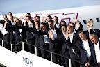 A magyar labdarúgó-válogatott tagjai megérkeznek a Liszt Ferenc-repülőtérre 2016. június 27-én. Az előző napon a csapat kikapott Belgiumtól a franciaországi labdarúgó Európa-bajnokság nyolcaddöntőjében, így kiesett. (MTI Fotó: Kovács Tamás)