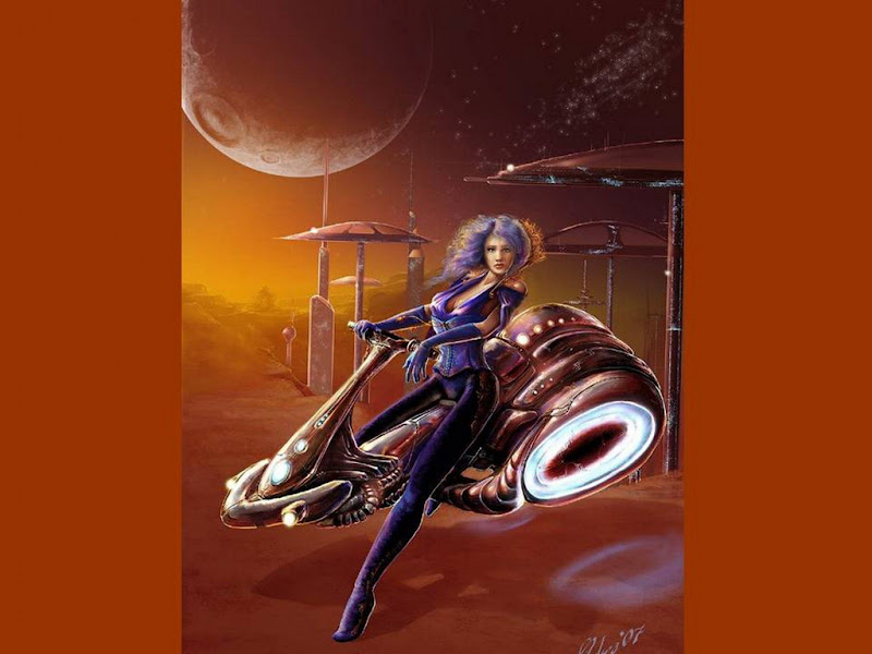 On The Space Bike, Fiction 1