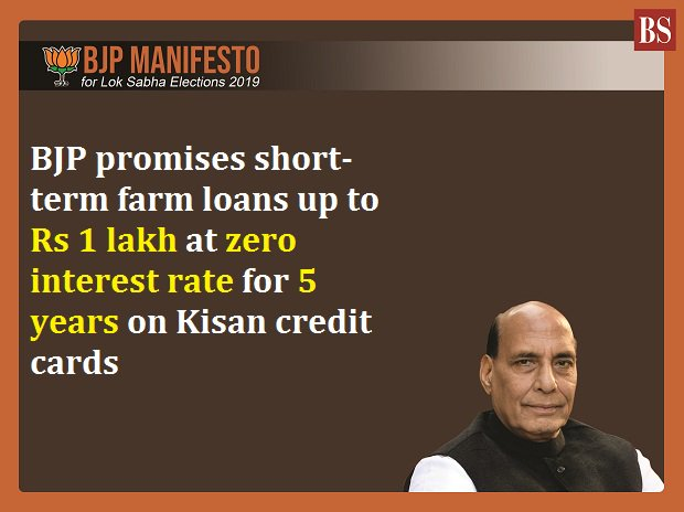 BJP manifesto 2019 LIVE: Kisan loans of up to Rs 1 lakh at 0