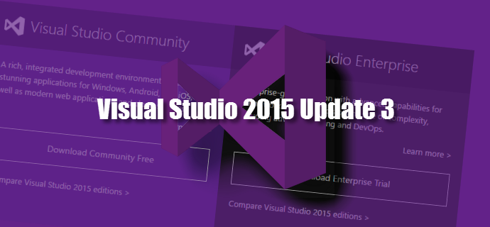 Microsoft released Visual Studio 2015 Update 3 Patch (KB3165756, 14.0.25422.01)