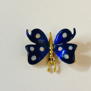14 Kt. Gold & Enamel Butterfly Pin