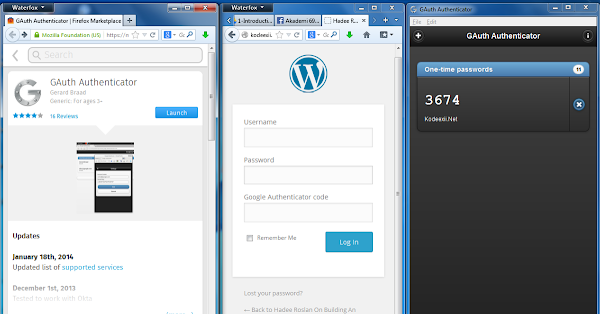 google authenticator firefox app