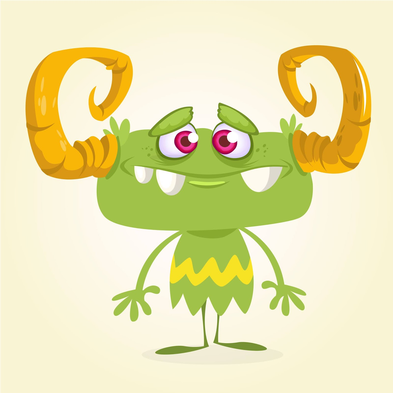 Cartoon Style Monster Illustration Free Download Vector CDR, AI, EPS and PNG Formats