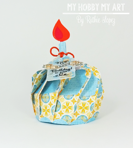 Cupcake 3d Biscuit Box, SnapDragon Snippets, Ruthie Lopez, Blog Hop, Hilda's Birthday, cupcake,