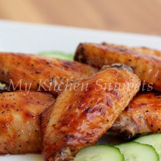 Spicy Honey Glazed Baked Chicken Wings