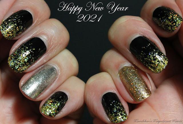 New Years Glitter Gradient