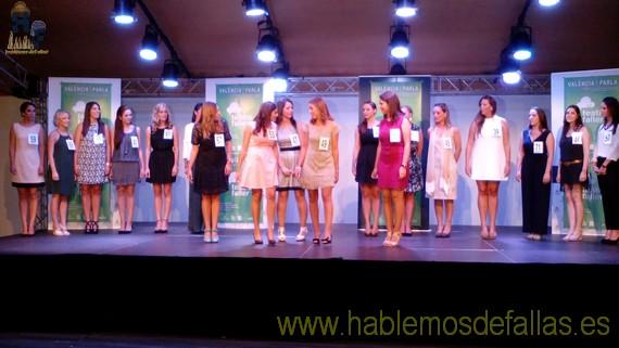 Teatre Faller y candidatas a Cortes de Honor.