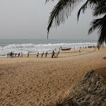 Ghana: Fischer am Strand (Cape Coast)