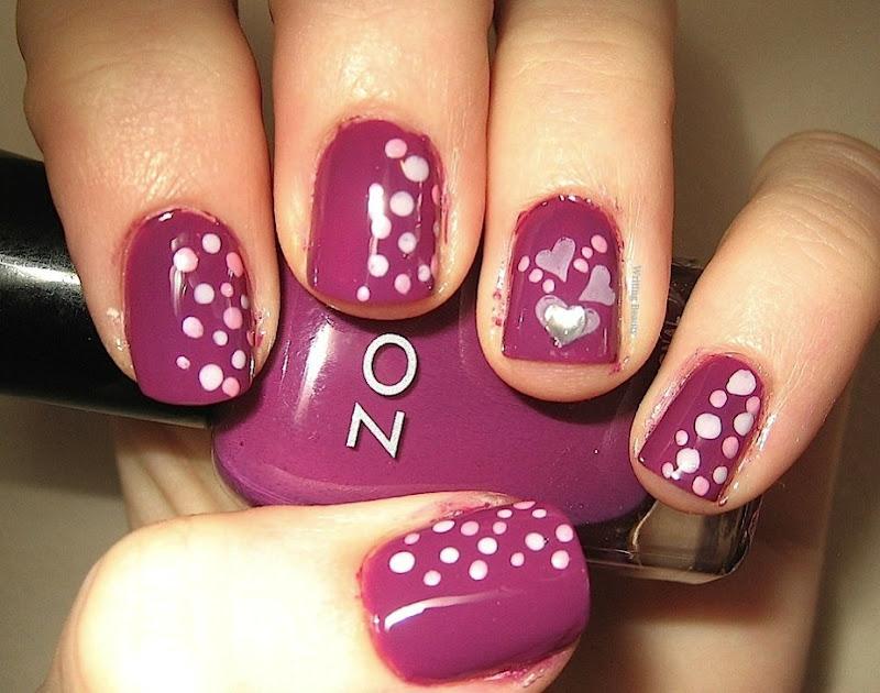 Valentine s day nail art